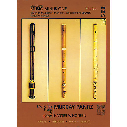 Music Minus One Advanced Flute Solos - Volume 3 Music Minus One Series Softcover with CD Performed by Murray Panitz thumbnail