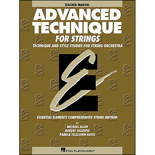 Hal Leonard Advanced Technique Teacher's Manual for Strings thumbnail