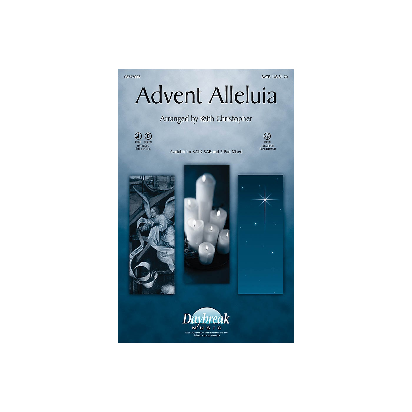 Daybreak Music Advent Alleluia (with Salvation Is Created and Let All Mortal Flesh Keep) SATB by Keith Christopher thumbnail