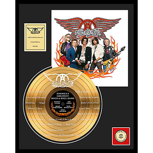 24 Kt. Gold Records Aerosmith - World's Greatest... Etched Gold LP Limited Edition of 2500 thumbnail