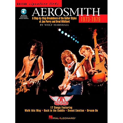 Hal Leonard Aerosmith 1973-1979 Guitar Signature Licks Book with CD thumbnail