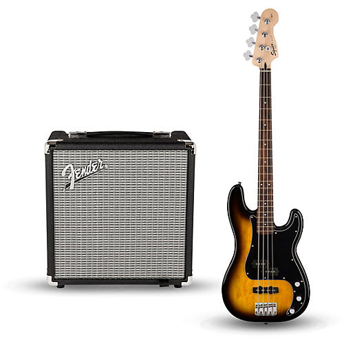 Squier Affinity Series PJ Bass Pack with Fender Rumble 15W 1x8 Bass Combo Amp thumbnail