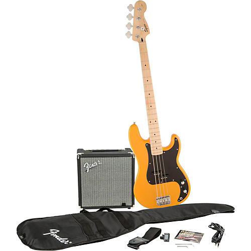 squier affinity series precision bass pack with fender rumble 15w bass combo amp woodwind. Black Bedroom Furniture Sets. Home Design Ideas