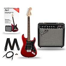 Squier Affinity Series Stratocaster Pack HSS Electric Guitar with Fender Frontman 15G Amp