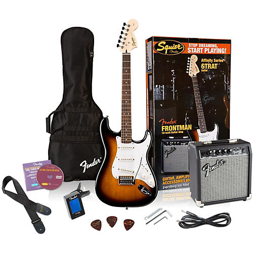 Squier Affinity Stratocaster Electric Guitar Pack w/ 10G Amplifier thumbnail