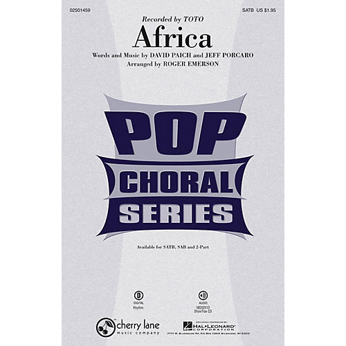 Cherry Lane Africa SATB by Toto arranged by Roger Emerson thumbnail