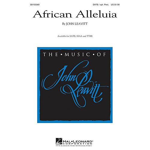 Hal Leonard African Alleluia TTBB Composed by John Leavitt thumbnail