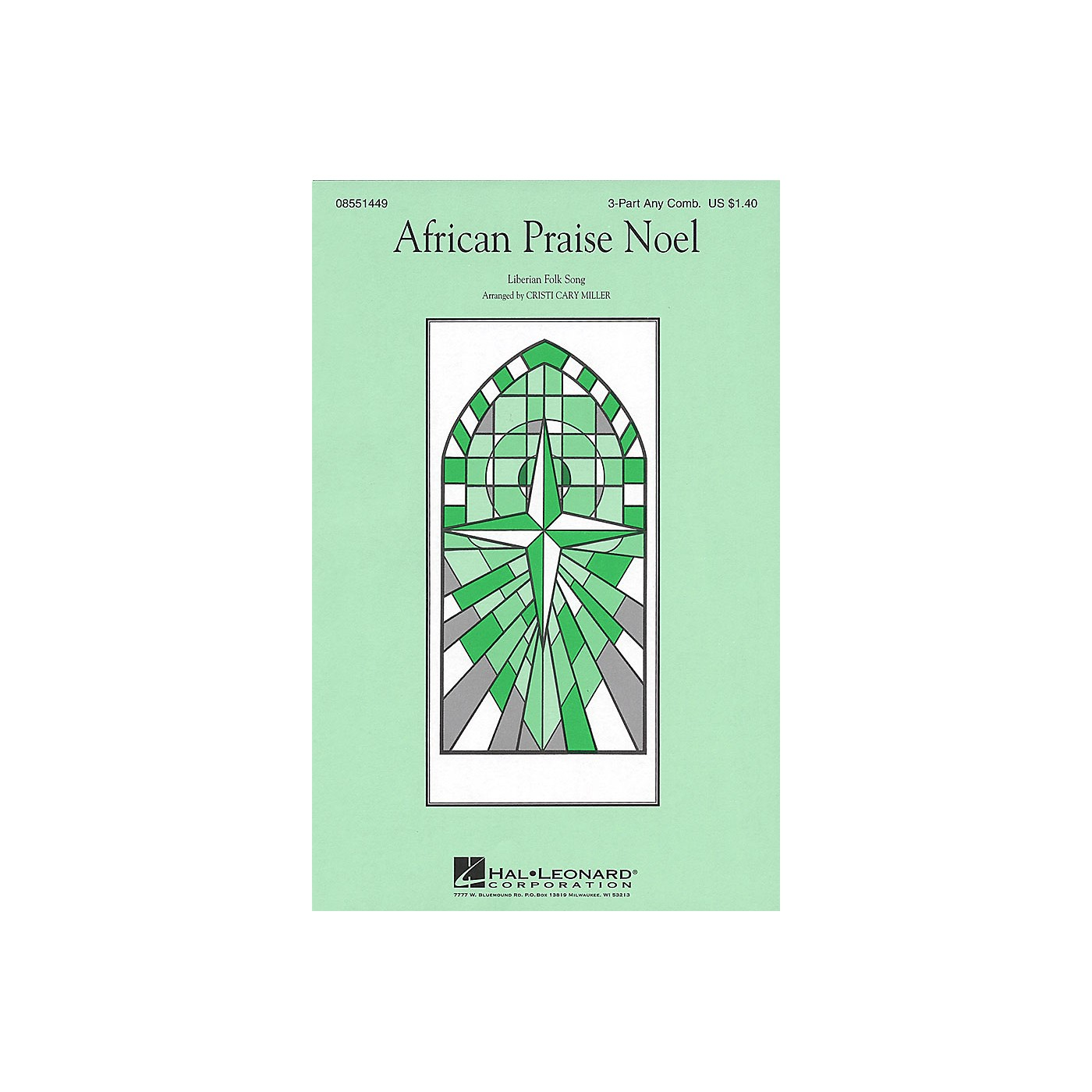 Hal Leonard African Praise Noel 3 Part Any Combination arranged by Cristi Cary Miller thumbnail