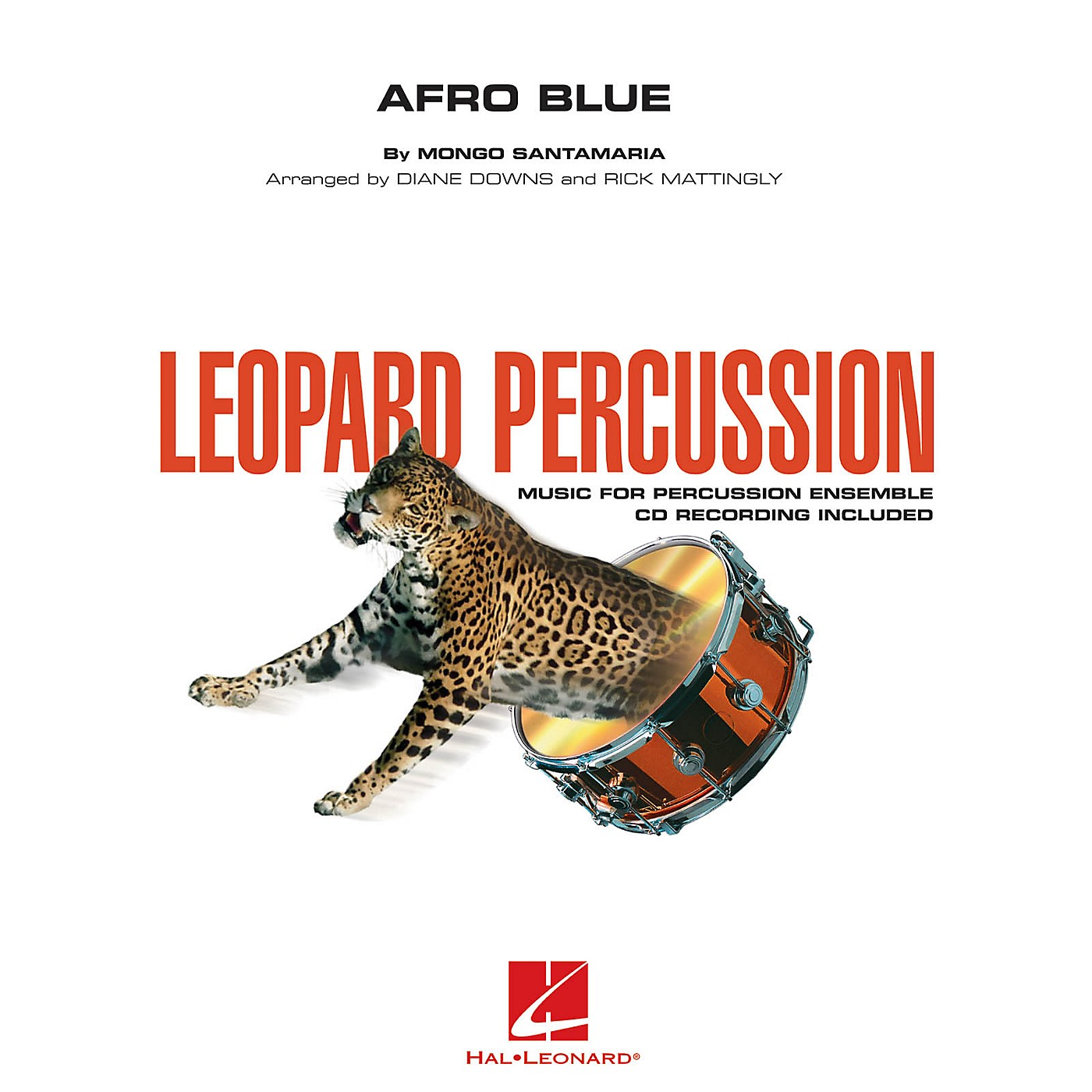 Hal Leonard Afro Blue (Leopard Percussion) Concert Band Level 3 Arranged by Diane Downs thumbnail