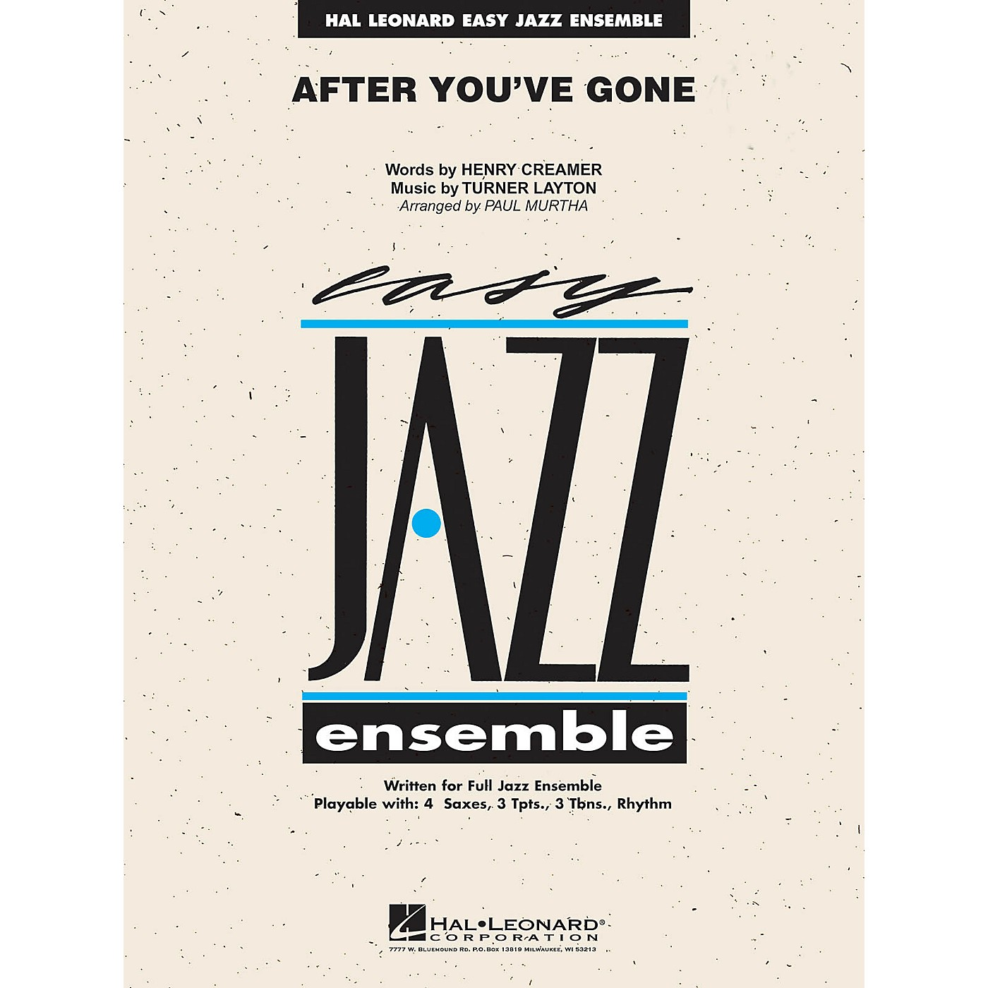 Hal Leonard After You've Gone Jazz Band Level 2 Arranged by Paul Murtha thumbnail