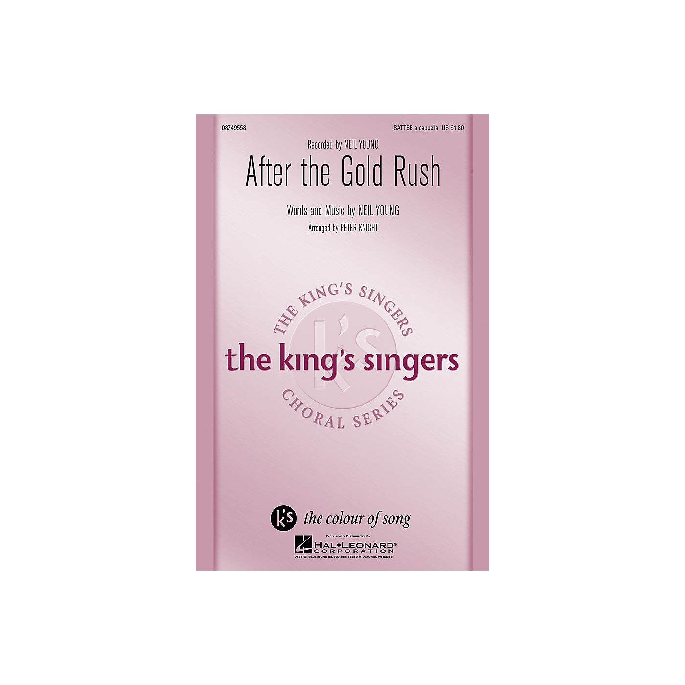 Hal Leonard After the Gold Rush SATTBB A Cappella by Neil Young arranged by Peter Knight thumbnail