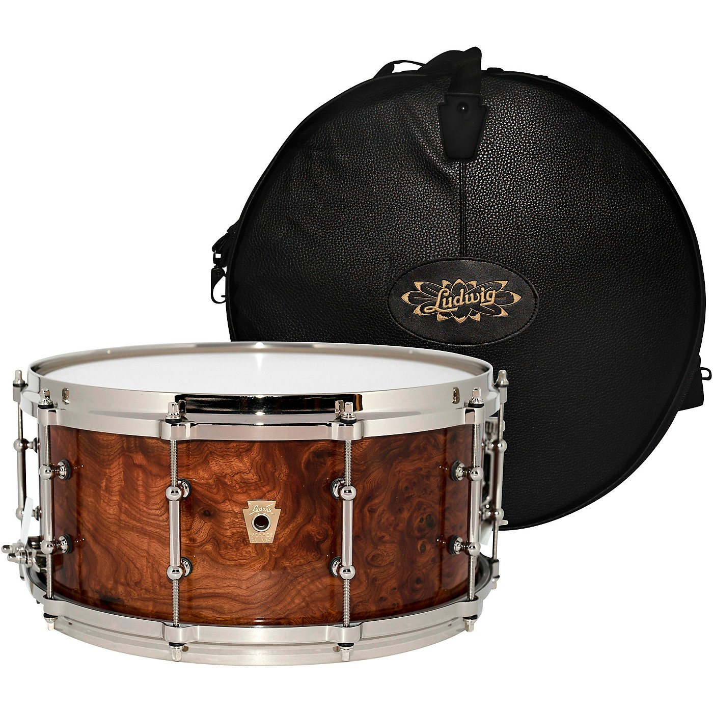 Ludwig Aged Exotic Carpathian Elm Limited Edition Snare Drum with Bag, 14 x 6.5 in. thumbnail