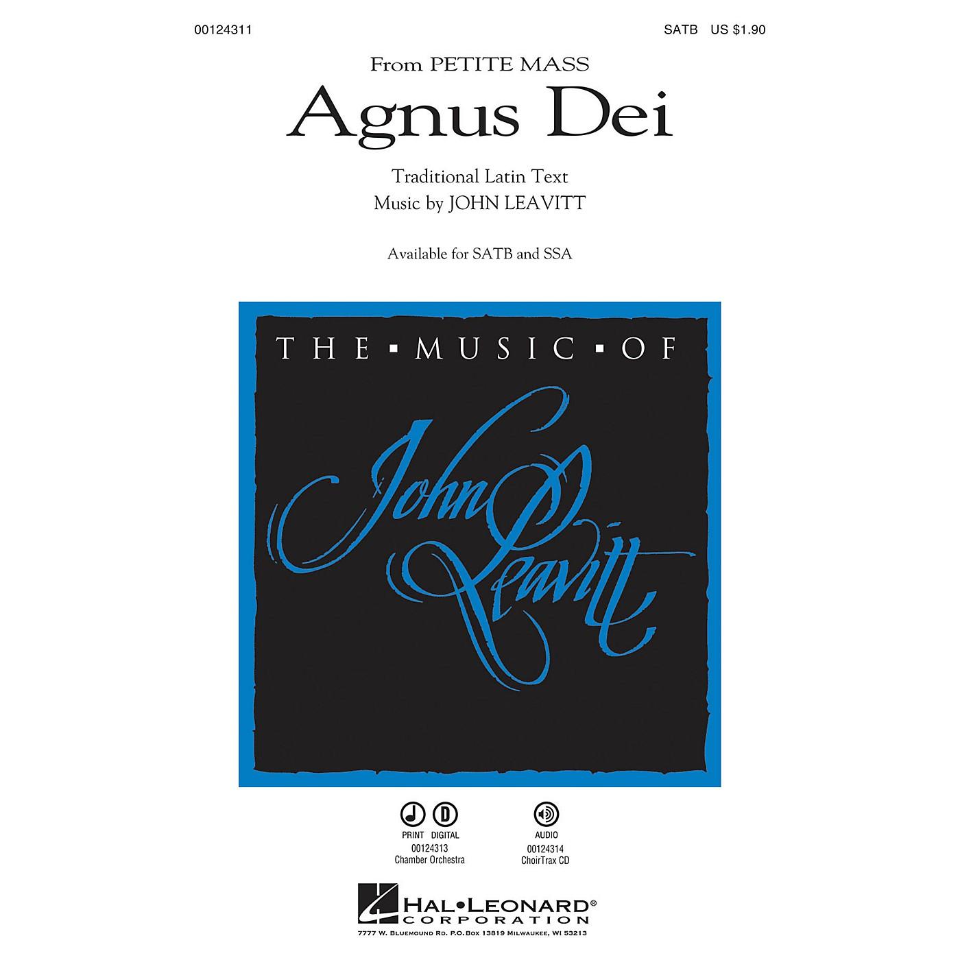 Hal Leonard Agnus Dei (from Petite Mass) SATB composed by John Leavitt thumbnail