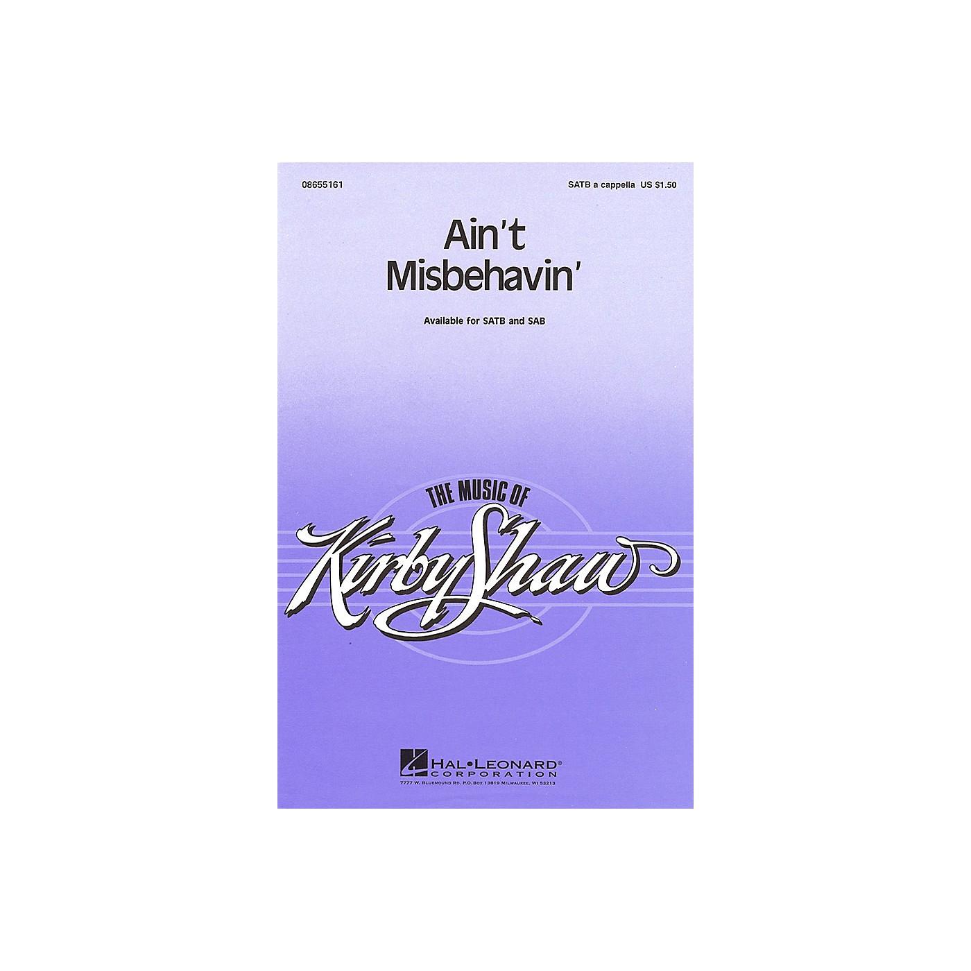 Hal Leonard Ain't Misbehavin' SATB a cappella arranged by Kirby Shaw thumbnail