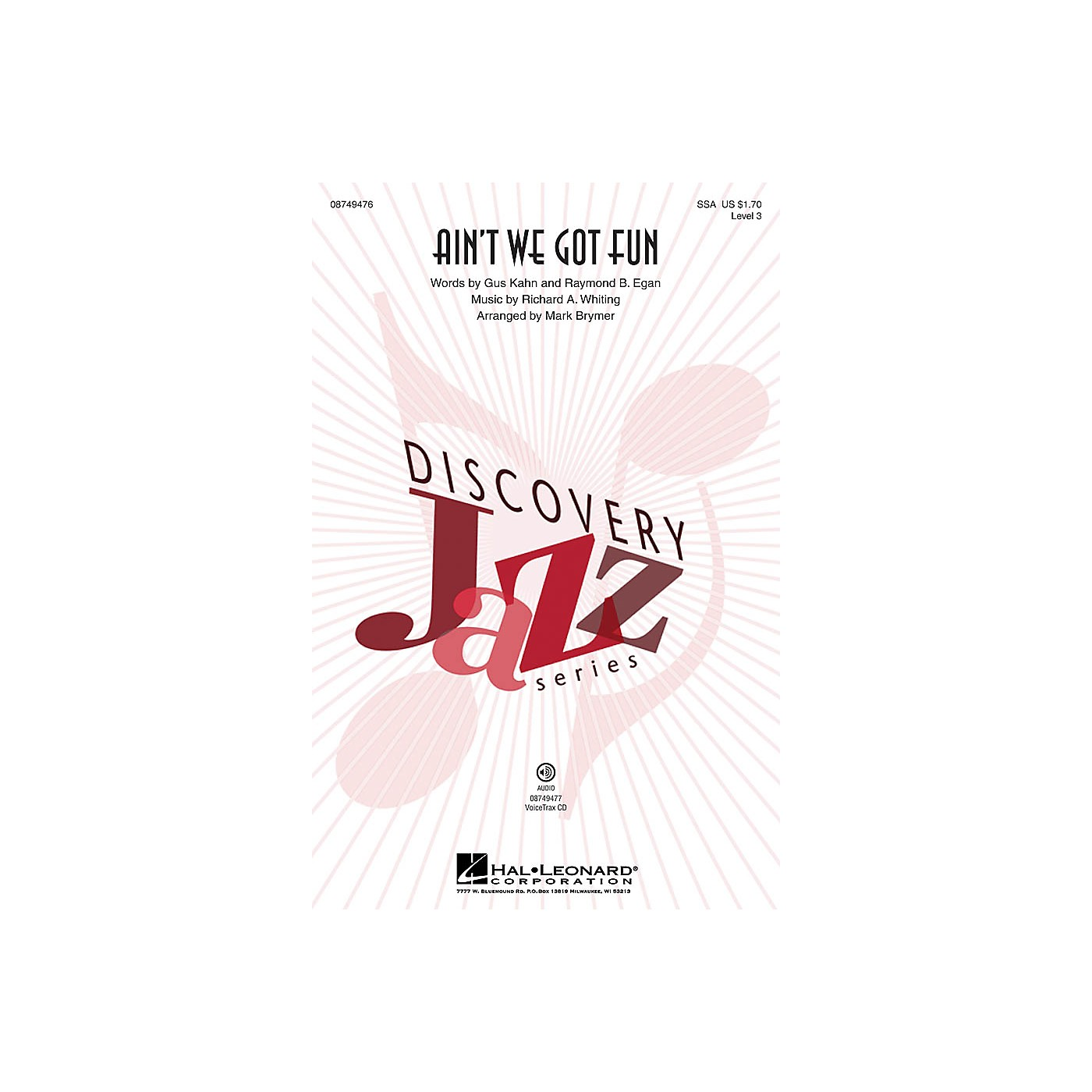 Hal Leonard Ain't We Got Fun (Discovery Level 3) SSA by Renee Olstead arranged by Mark Brymer thumbnail