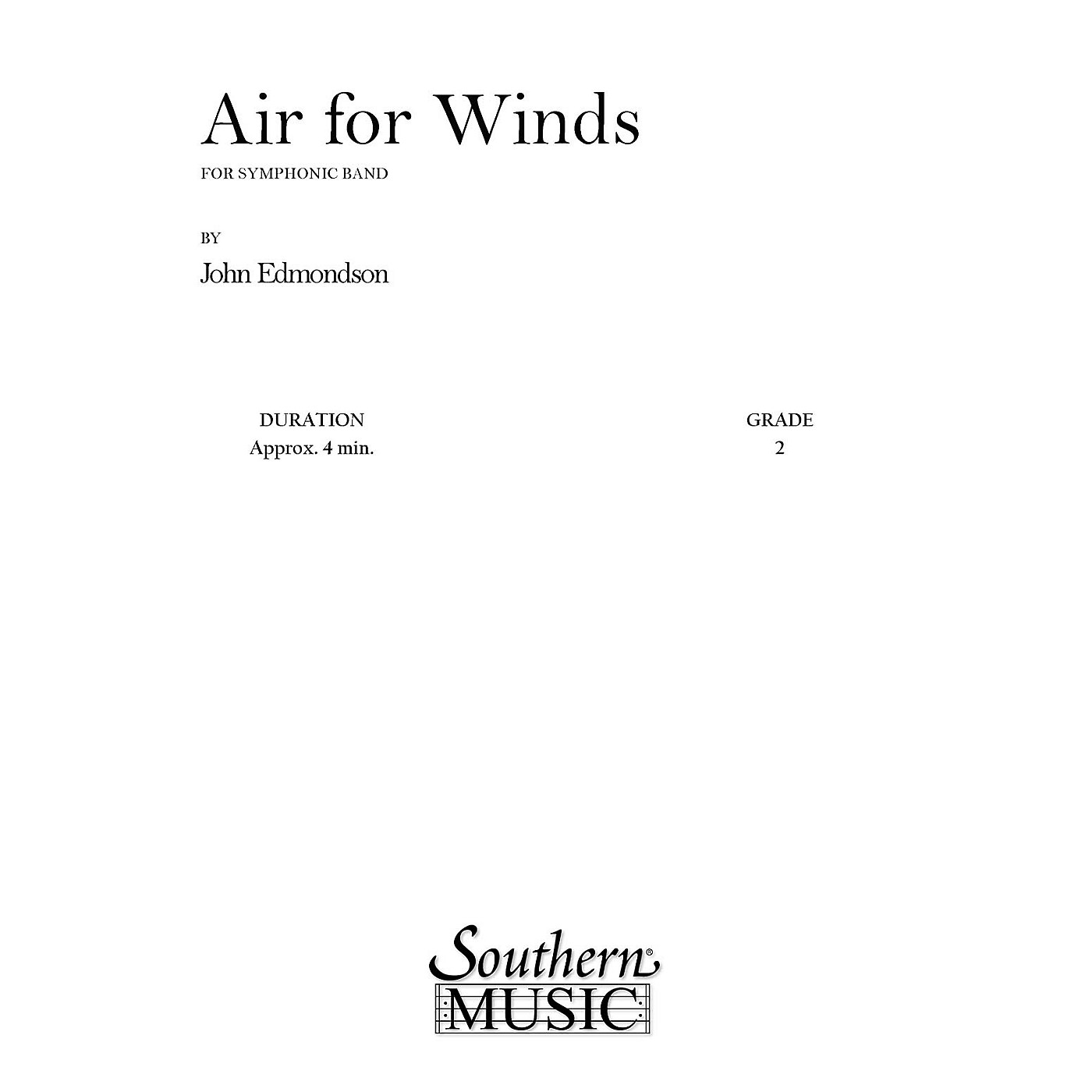 Southern Air for Winds (Band/Concert Band Music) Concert Band Level 2 Composed by John Edmondson thumbnail