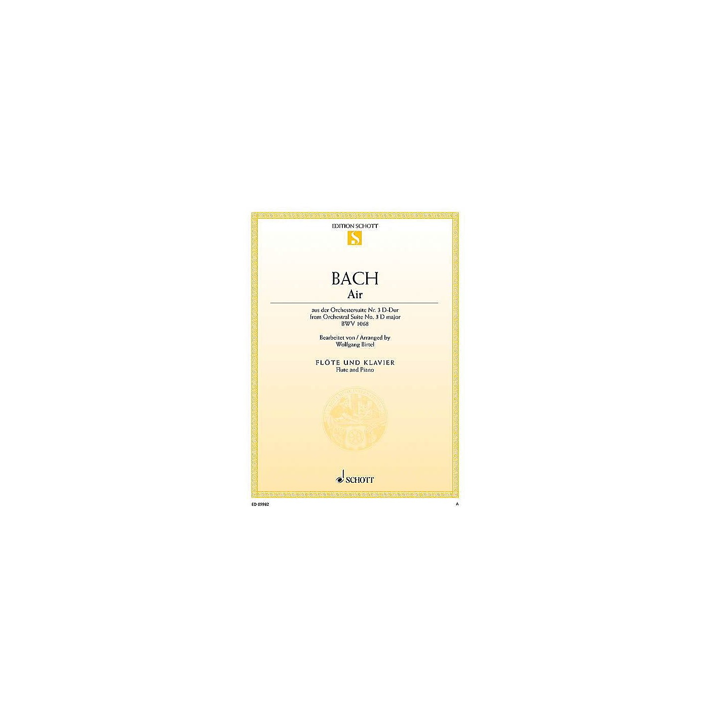 Schott Air from Orchestral Suite No. 3 in D Major BWV 1068 Woodwind Series Softcover thumbnail