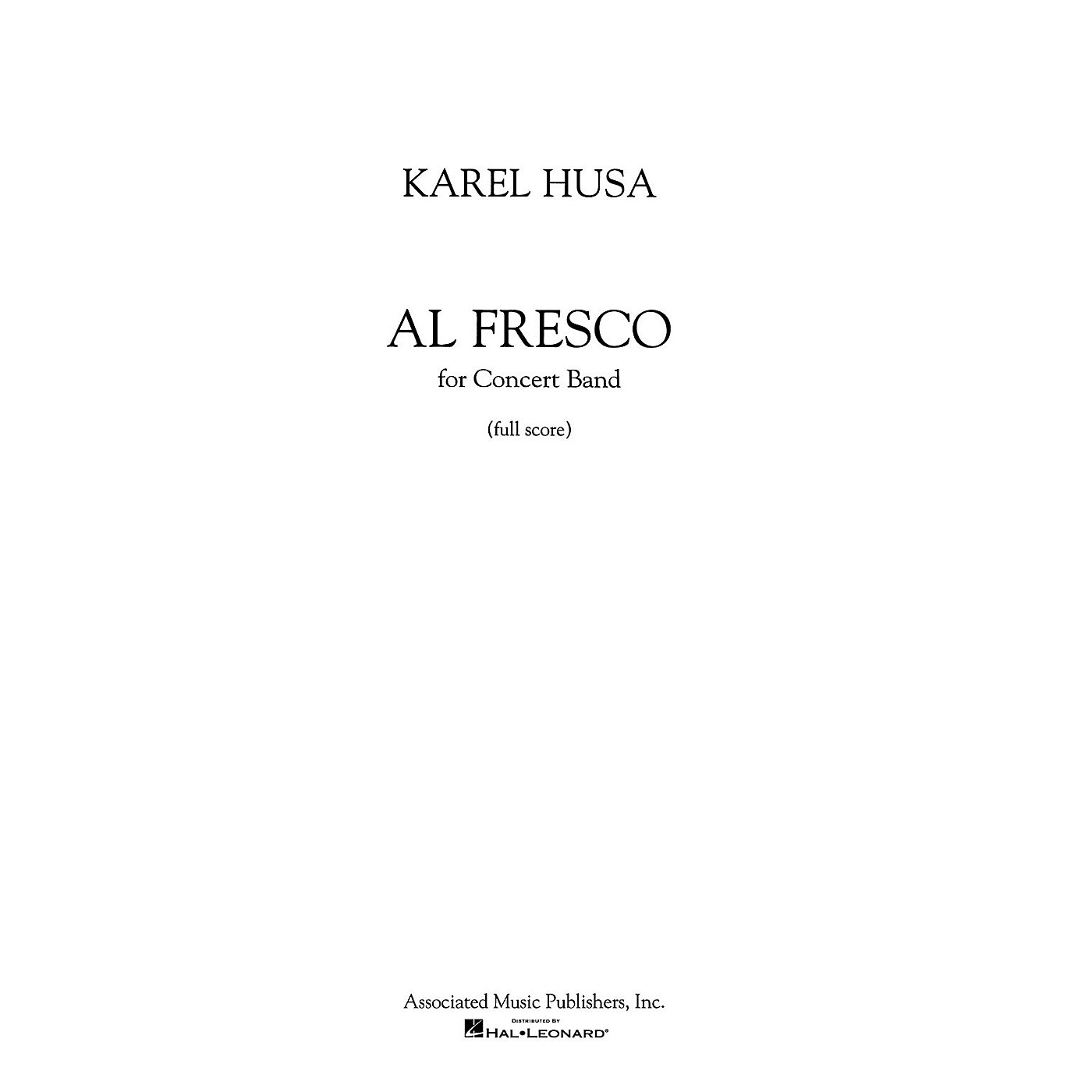 Associated Al Fresco (Score and Parts) Concert Band Level 4-5 Composed by Karel Husa thumbnail