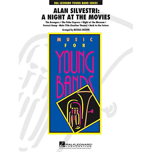 Hal Leonard Alan Silvestri: A Night At The Movies - Young Concert Band Level 3 thumbnail