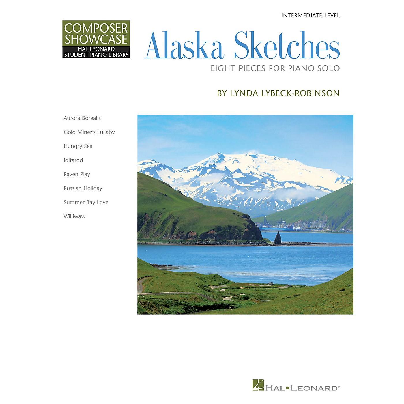 Hal Leonard Alaska Sketches Piano Library Series Book by Lynda Lybeck-Robinson (Level Inter) thumbnail
