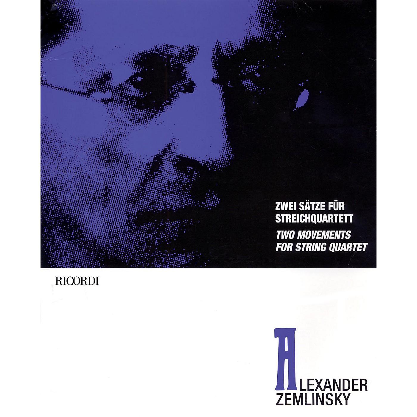 Ricordi Alexander Zemlinsky - Two Movements for String Quartet Ensemble Series Composed by Alexander Zemlinsky thumbnail
