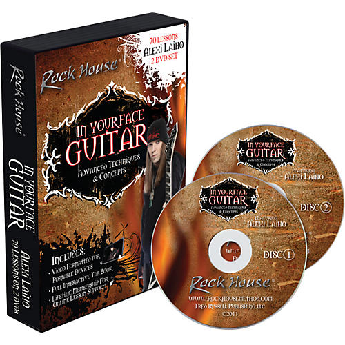 Rock House Alexi Laiho - In Your Face Guitar DVD thumbnail