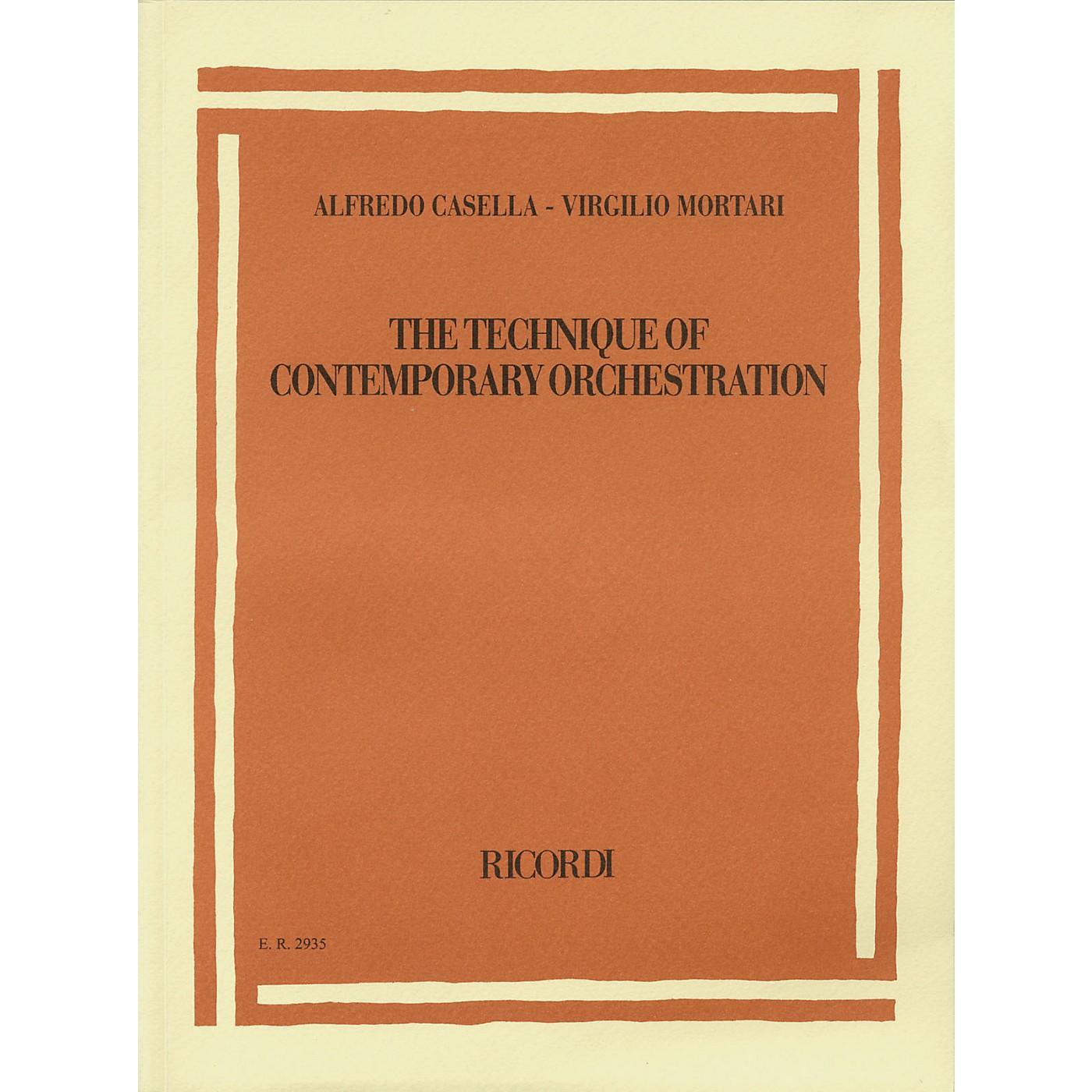 Ricordi Alfredo Casella/Virgilio Mortari - The Technique of Contemporary Orchestration Misc Series thumbnail