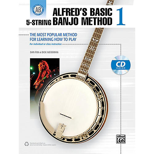 Alfred Alfred's Basic 5-String Banjo Method 1 Book & CD thumbnail