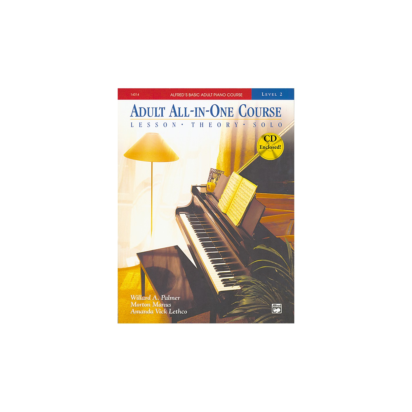 Alfred Alfred's Basic Adult All-in-One Piano Course Book 2 thumbnail