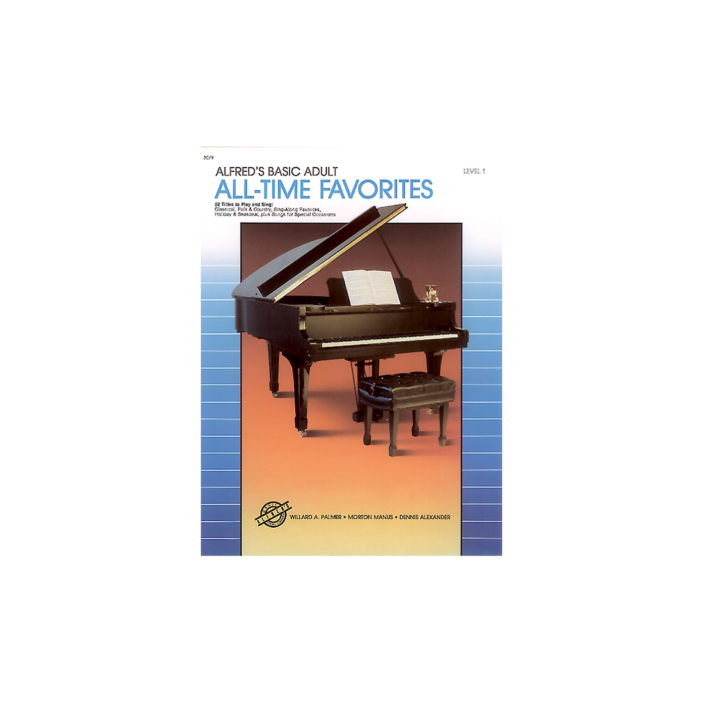 Alfred Alfred's Basic Adult Piano Course All-Time Favorites Book 1 thumbnail