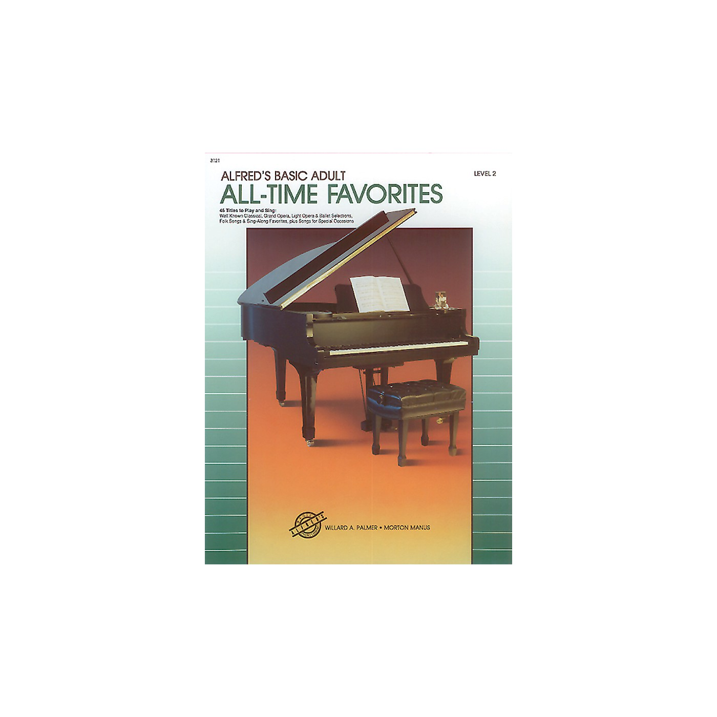 Alfred Alfred's Basic Adult Piano Course All-Time Favorites Book 2 thumbnail