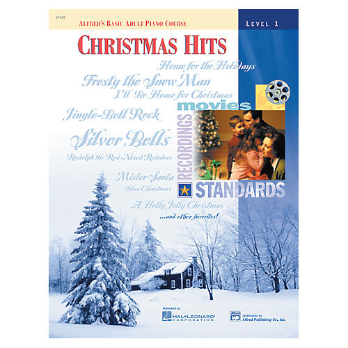 Alfred Alfred's Basic Adult Piano Course Christmas Hits Level 1 thumbnail