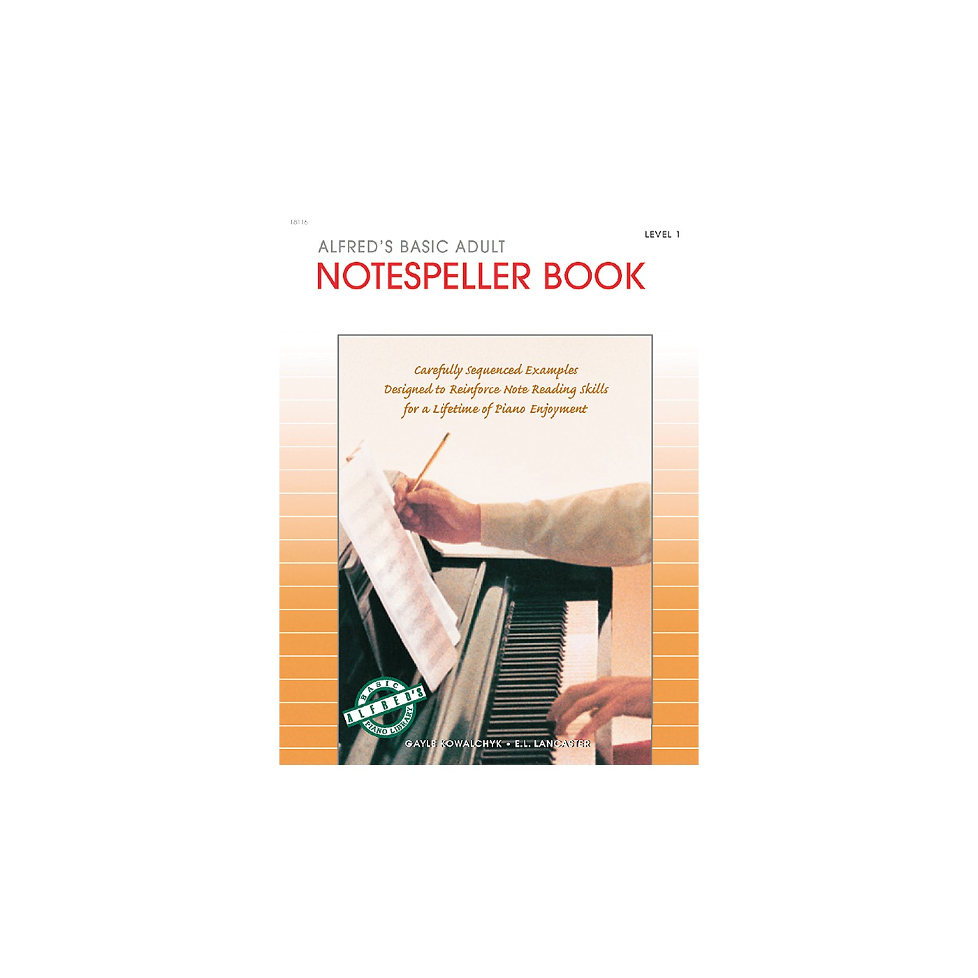 Alfred Alfred's Basic Adult Piano Course Notespeller Book 1 thumbnail