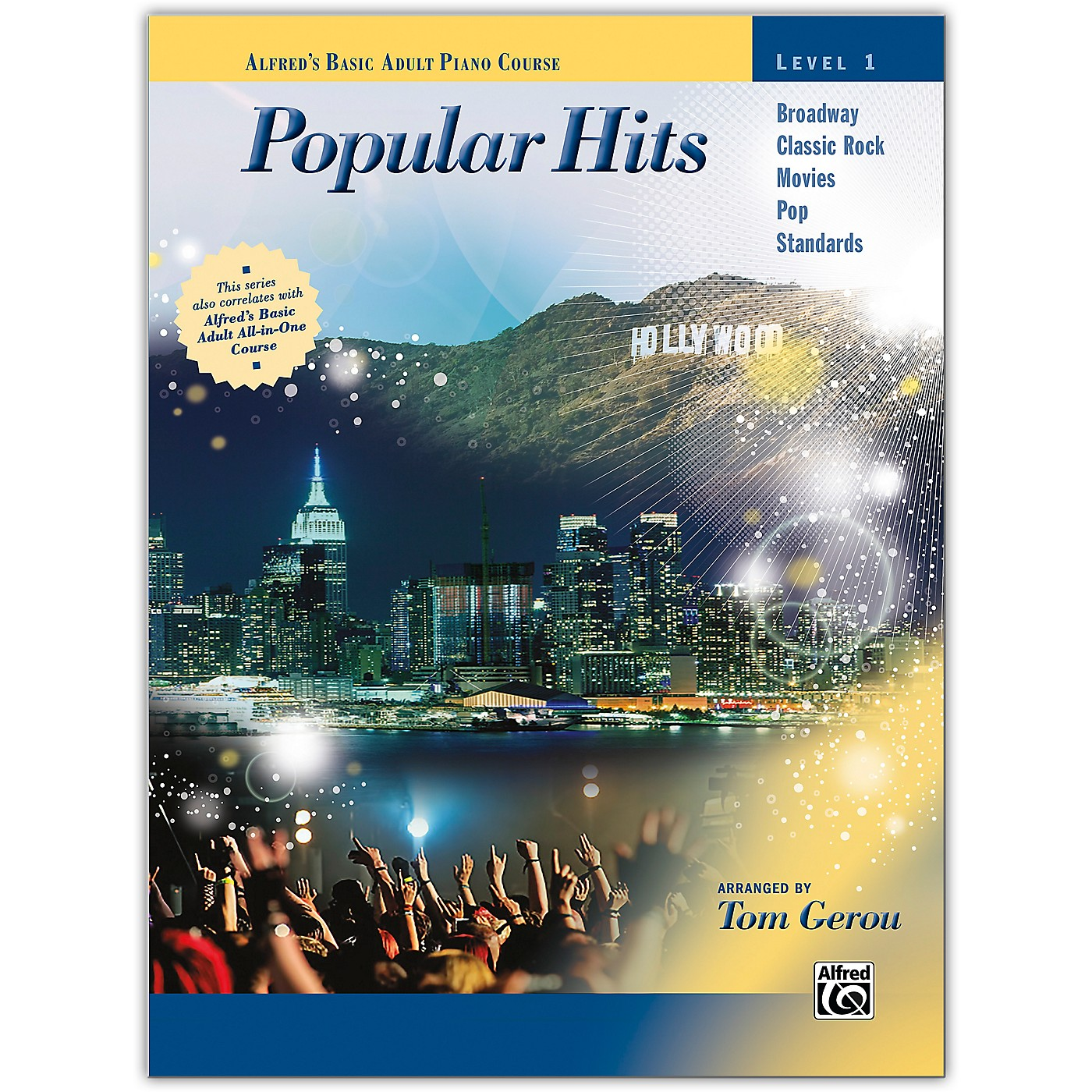 Alfred Alfred's Basic Adult Piano Course: Popular Hits, Level 1 thumbnail