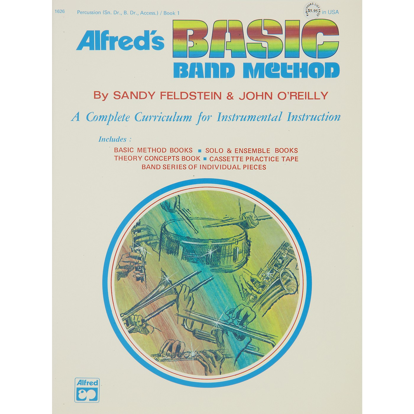 Alfred Alfred's Basic Band Method Book 1 Percussion (Snare Drum Bass Drum & Accessories) thumbnail