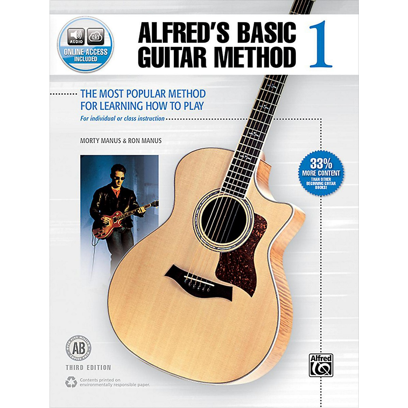 Alfred Alfred's Basic Guitar Method 1 Book & Online Audio 3rd Edition thumbnail