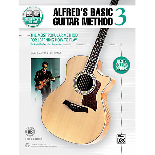 Alfred Alfred's Basic Guitar Method 3 Book & Online Audio (Third Edition) thumbnail