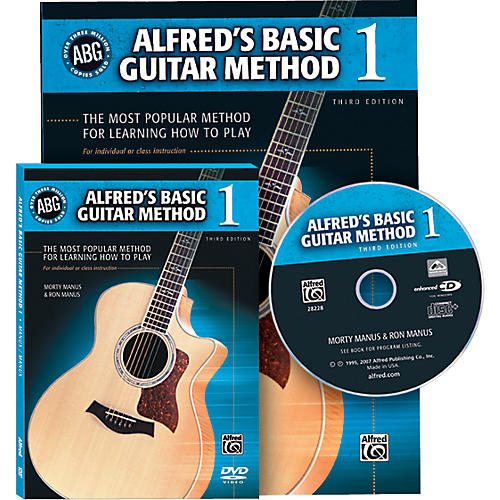 Alfred Alfred's Basic Guitar Method Book 1 with DVD/CD-thumbnail
