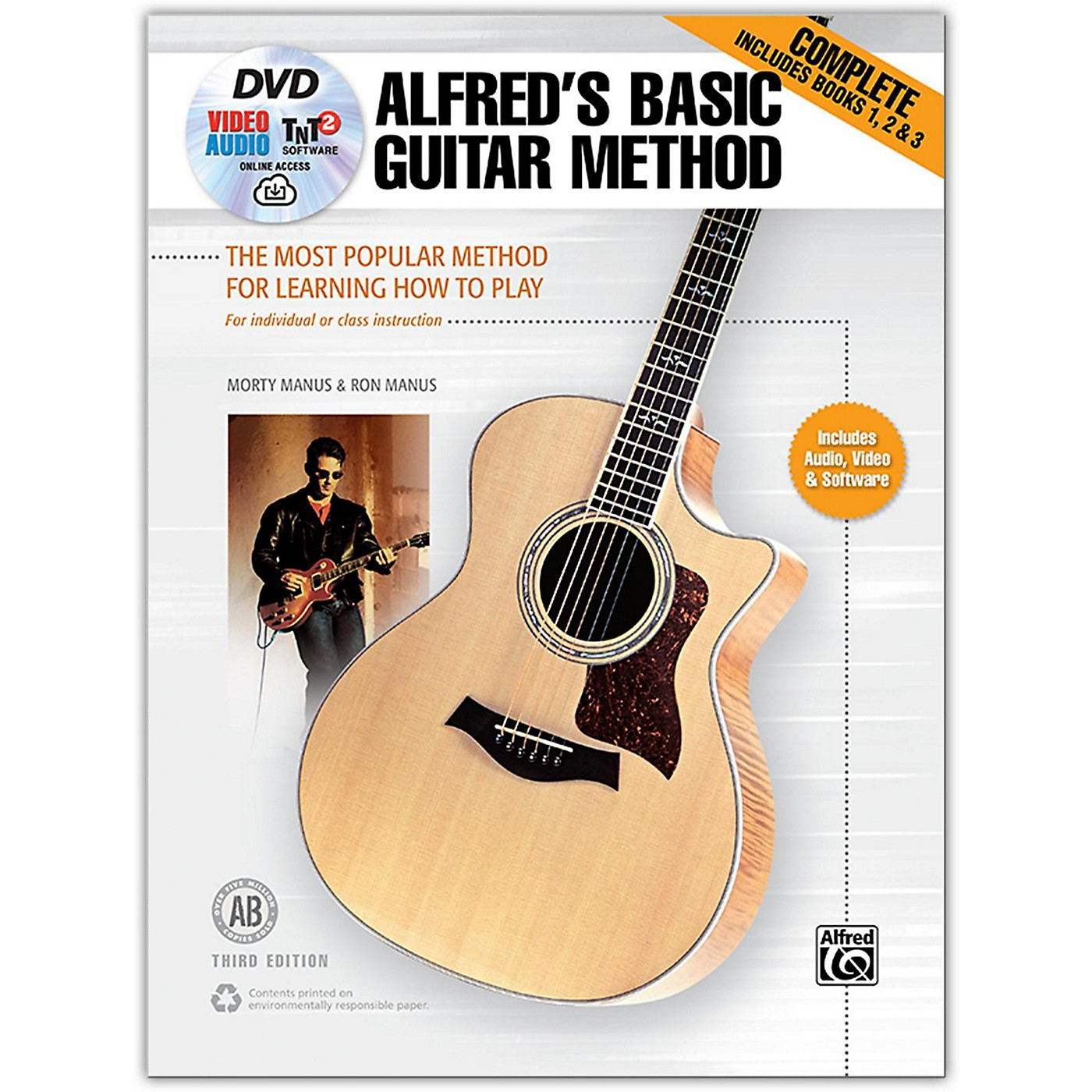 Alfred Alfred's Basic Guitar Method, Complete Book, DVD & Online Audio, Video & Software  Revised thumbnail