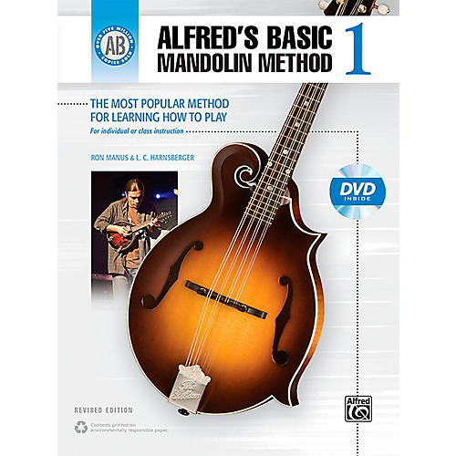 Alfred Alfred's Basic Mandolin Method 1 (Revised) Book & DVD thumbnail