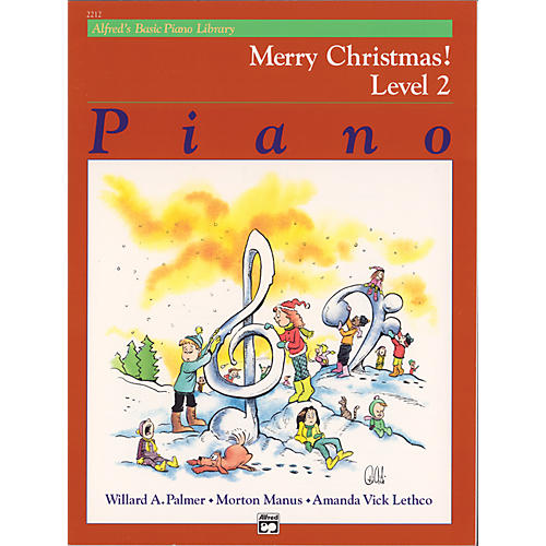 Alfred Alfred's Basic Piano Course Merry Christmas! Book 2 thumbnail