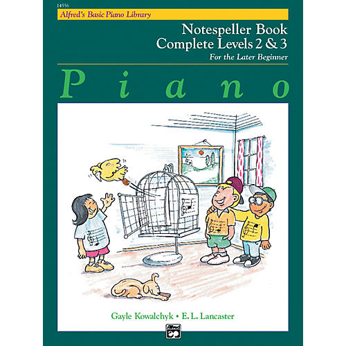 Alfred Alfred's Basic Piano Course Notespeller Book Complete 2 & 3 thumbnail