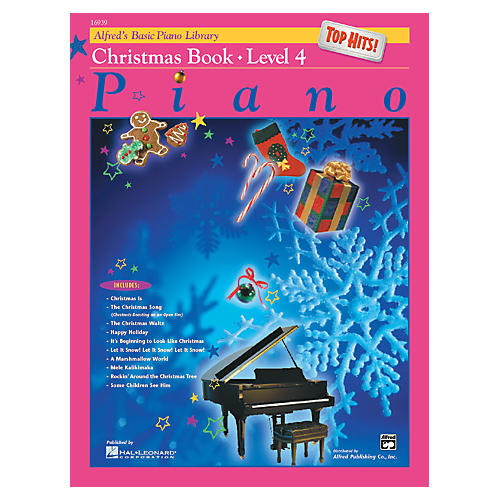 Alfred Alfred's Basic Piano Course Top Hits! Christmas Book 4 thumbnail