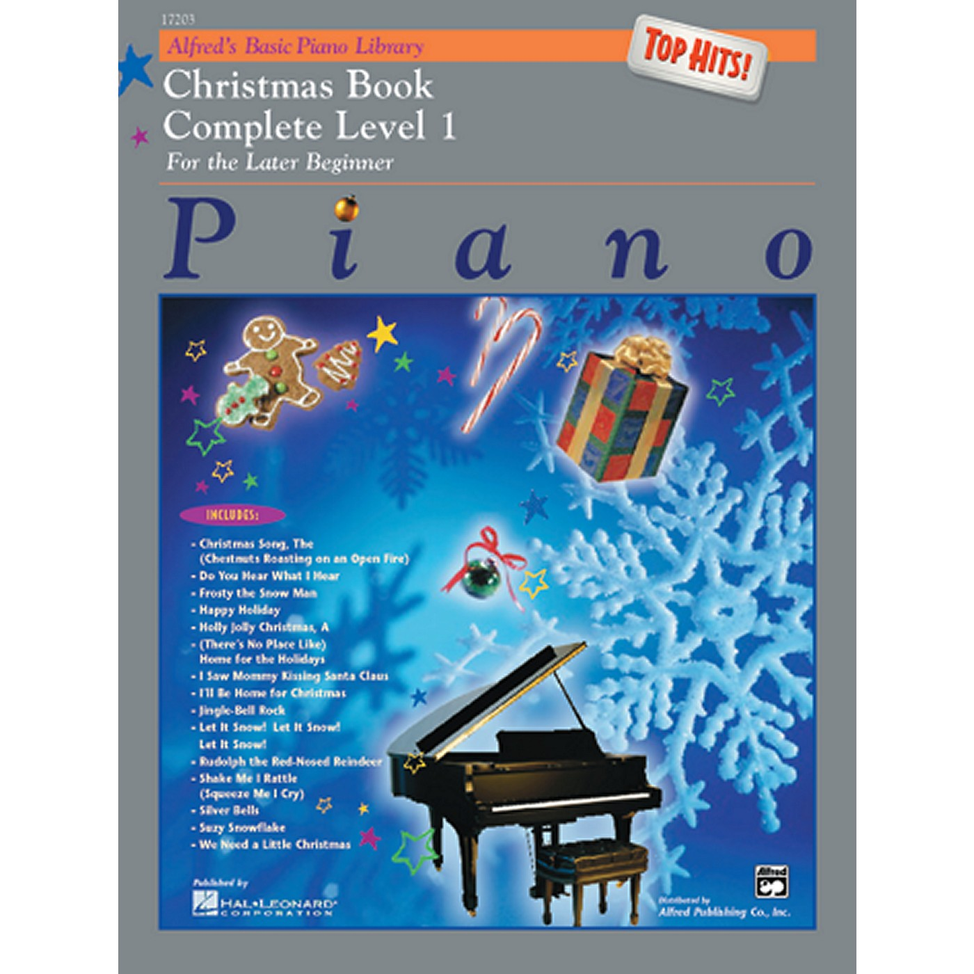 Alfred Alfred's Basic Piano Course Top Hits! Christmas Book Complete 1 (1A/1B) thumbnail