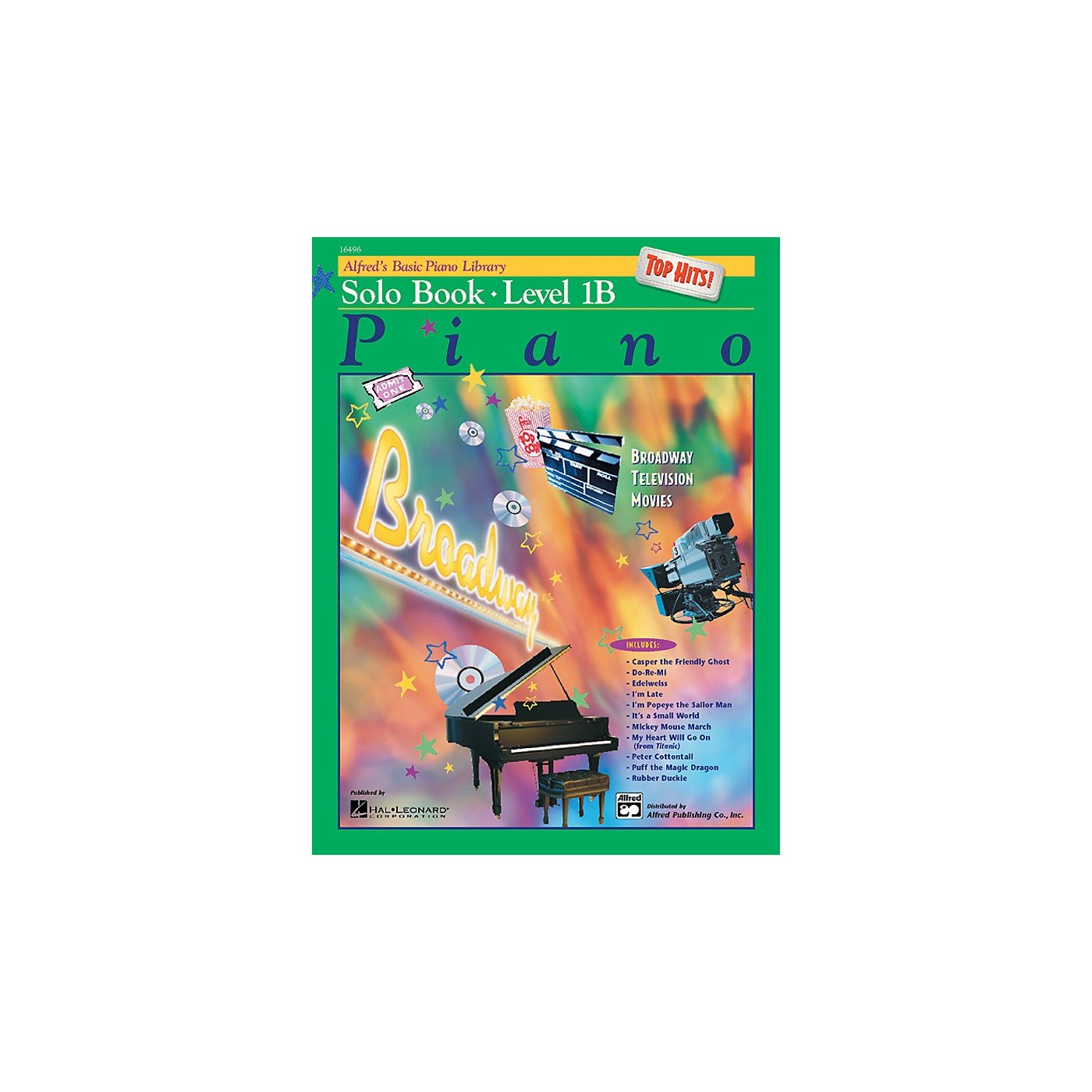 Alfred Alfred's Basic Piano Course Top Hits! Solo Book 1B thumbnail