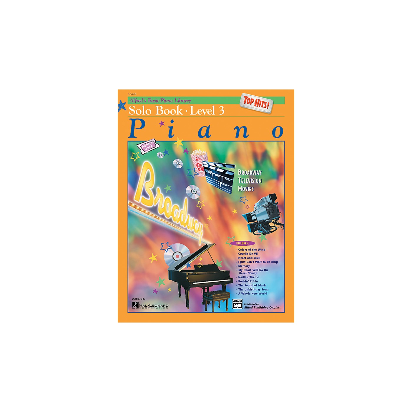 Alfred Alfred's Basic Piano Course Top Hits! Solo Book 3 thumbnail