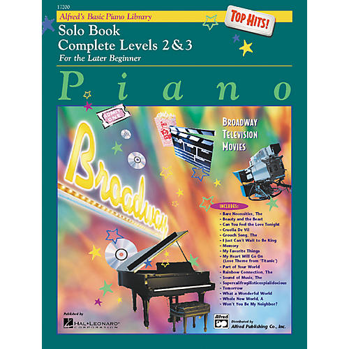 Alfred Alfred's Basic Piano Course Top Hits! Solo Book Complete 2 & 3 thumbnail