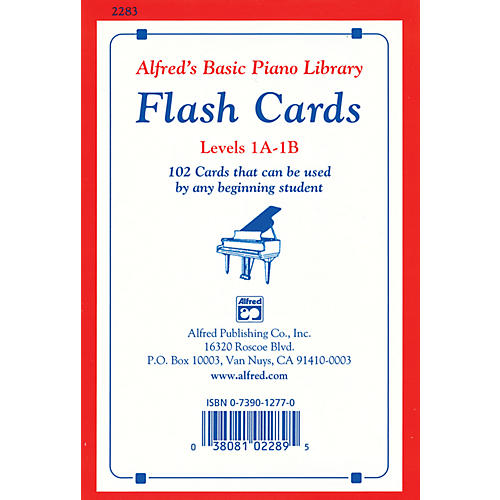 Alfred Alfred's Basic Piano Library Flash Cards Levels 1A & 1B thumbnail