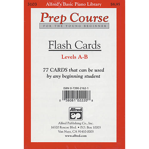 Alfred Alfred's Basic Piano Prep Course Flash Cards Levels A & B thumbnail