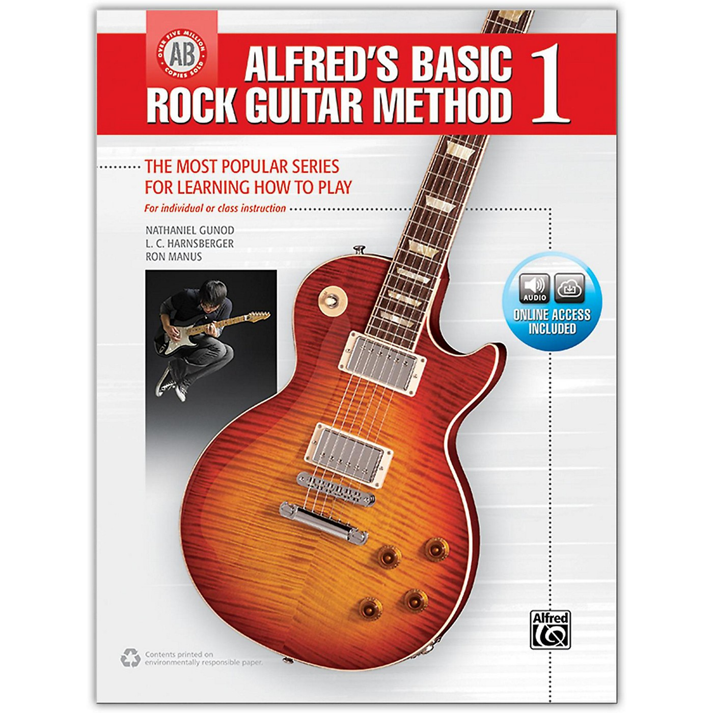 Alfred Alfred's Basic Rock Guitar Method 1 - Book & Online Audio thumbnail